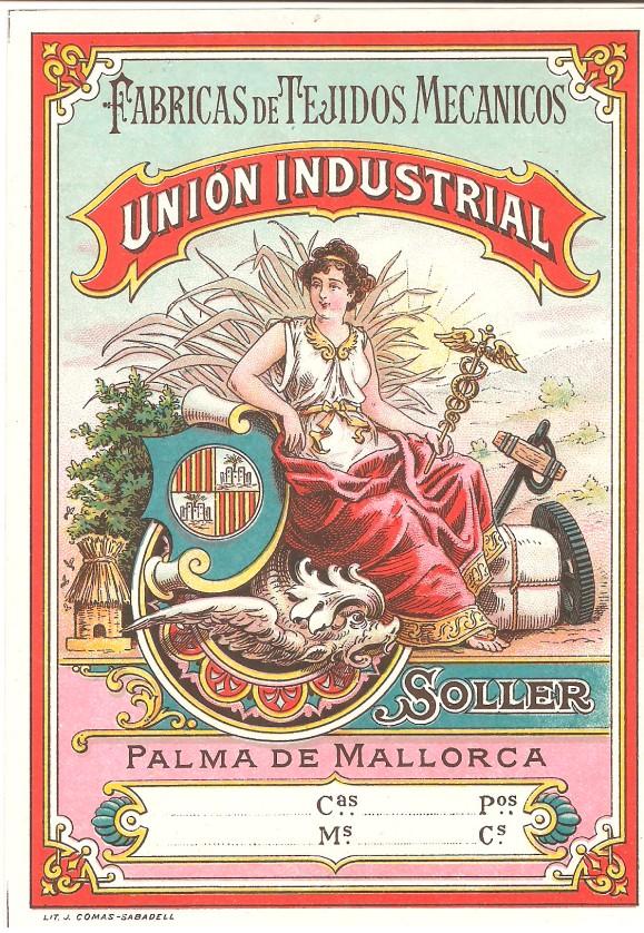 etiqueta union industrial textil soller